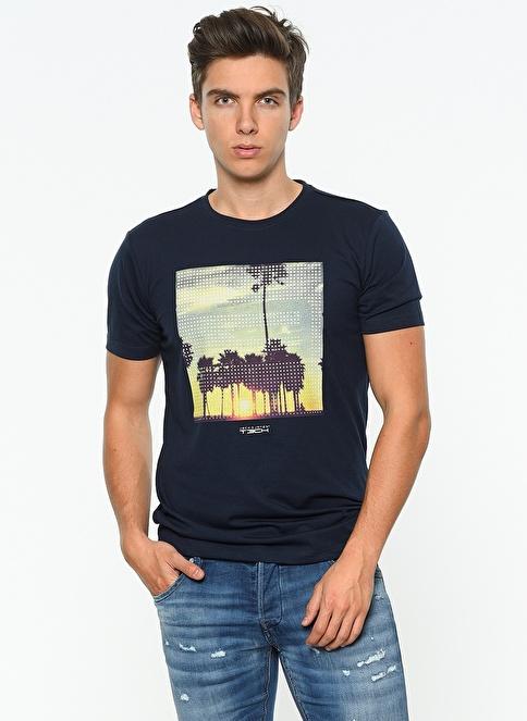 Jack & Jones Baskılı T-Shirt Lacivert